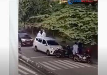 Video Detik-detik Driver Ojol Yang Sedang Mangkal Kabur Terbirit-birit Disamperin Seorang Wanita, Ternyata...