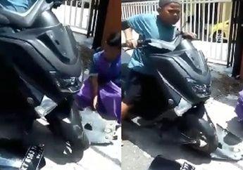 Kocak Banget, Video Yamaha NMAX Bikin Bocah Gendut Nangis Jerit-jerit, Warga Malah Bilang Begini