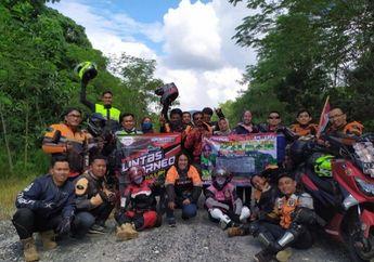 Kompak! YVCI Kalimantan Gelar Touring Kemerdekaan RI ke-75 di Perbatasan Negara