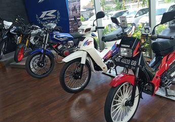 Wow! Motor Bebek 2-Tak Legendaris Yamaha F1Z Terpantau Mejeng di Diler Yamaha Bali, Dijual Nih Bro?
