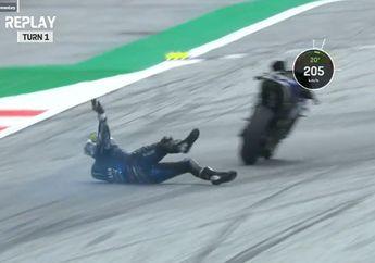 Terkuak! Nih Penyebab dan Fakta Maverick Vinales Kecelakaan Pada MotoGP Styria 2020, Ternyata Salah Ini