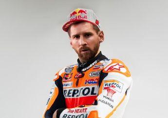 """Lionel Messi Mau Cabut dari Barcelona Malah """"Gabung"""" Repsol Honda di MotoGP, Bakal Gantikan Marc Marquez?"""