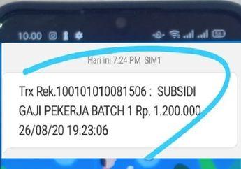 Periksa SMS di HP Anda Pemberitahuan Bantuan atau Subsidi Sebesar Rp 1,2 Juta dari Pemerintah Masuk Rekening Tabungan Hore Bisa Bayar Cicilan Motor Kredit