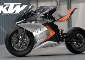 Tampil Futuristik, Begini Rendering Motor Listrik KTM Berbasis RC8