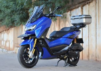 Modifikasi Yamaha All New NMAX, Kelir Biru Sporty Siap Diajak Touring