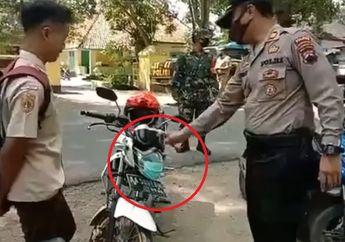 Kocak! Polisi Marahin Pelajar Sekolah Soal Masker, Warganet: Anak Siapa Sih Tong