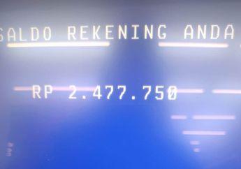 Kaget Gak Pernah Setor Nomor Rekening  Dapat SMS dari Bank BRI Terima Transferan Rp 2,4 Juta dari Pemerintah Setelah Cek ATM Ada Dana Masuk Lewat Menu Mutasi