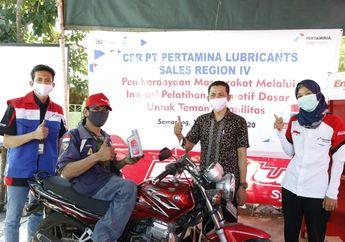 Bantuan Pertamina untuk Bengkel Motor Difabel di Saat Covid-19
