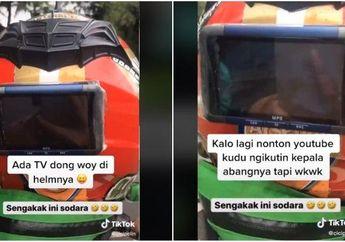 Ajib Nih, Video Viral Naik Ojek Fasilitas Bintang Lima, Ada TV, Powerbank dan Permen, Udah Pernah Jajal Belum Bro?