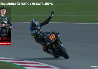 Hasil Kualifikasi Moto2 Catalunya 2020, Adik Valentino Rossi Start Posisi 1 Pembalap Indonesia Urutan Segini