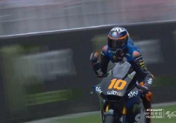 Hasil Moto2 Catalunya 2020, Adik Valentino Rossi Juara, Pembalap Indonesia Andi Gilang Finis Segini