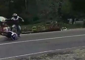 Video Detik-detik Bikers Crash Mirip Pembalap MotoGP, Warganet Malah Geram, Kenapa Nih?