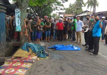 Warga Berhamburan, Keluarga Pengemis Bergelimpangan Ditutup Terpal Diseruduk Mobil, Lagi Istirahat di Pinggir Jalan