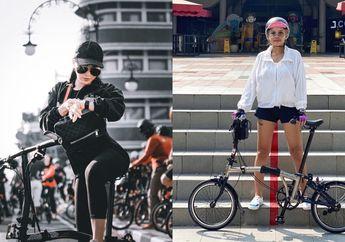 Wuih Potret 5 Artis Cantik Bersama Sepeda Brompthon Seharga 3 Honda BeAT, Awas Warganet Salah Fokus