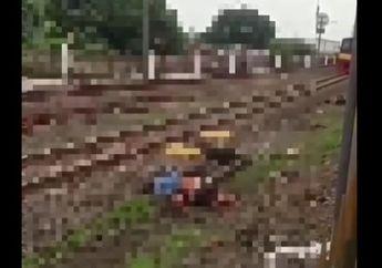 Depok Gempar, Mayat Cowok Geletak di Atas Rel, Ternyata Pemotor yang Terserempet  Kereta, Netizen: Jangan Sok Kerad