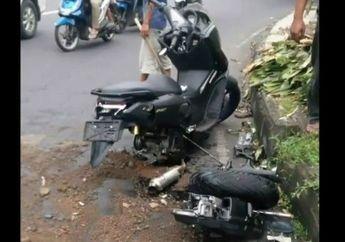 Kebelah Dua! Kecelakaan Yamaha NMAX Vs Kijang Innova, Gagal Cornering Langsung Jatoh Ambyar Terlindas, Ini Videonya