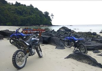 Kapolres Bangka Barat Pimpin Adventure Yamaha WR 155 R Sekaligus Baksos dan Trabasan ke Pantai Jerangkat