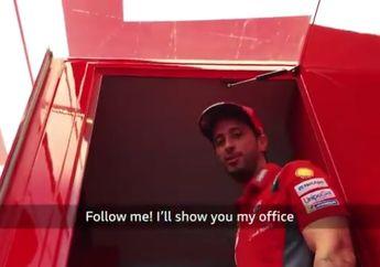 Intip Kantor Andrea Dovizioso di MotoGP, Jangan Kaget Lihat Isi Lemarinya