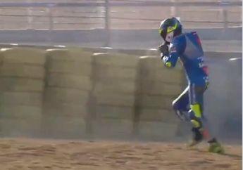 Terseret Motor Langsung Berdiri dan Lari di Kualifikasi MotoGP Prancis 2020, Joan Mir Harus Start di Posisi ke-14