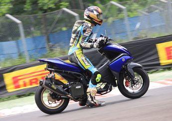 Mantul, Cuma Pakai Knalpot Standar Racing ROB1, Alvian Hadiputra Raih Runner Up di HBX Fun Race 2020