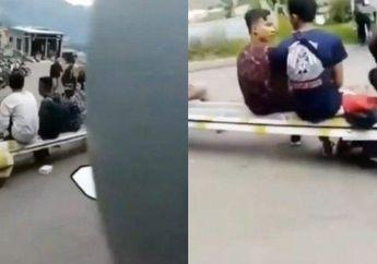 Viral Kata-kata Tarik Sis, Video Dua Wanita Jatuh Dari motor Gara-gara Berharap Teriakan Semongko dari Para Pemuda di Jalan