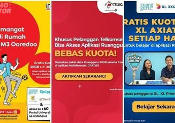 Murah Meriah Paket Internet Telkomsel XL Axis 3 Smartfren dan Indosat, Cara Aktifinnya Gampang Banget!