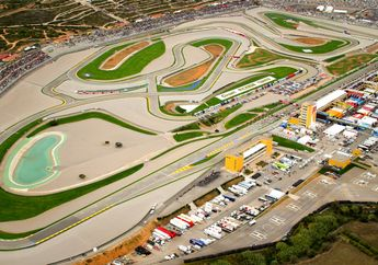 Keren! Sirkuit MotoGP Ricardo Tormo Valencia Kasih Kejutan Buat Juara MotoGP Valencia 2020