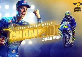 Hasil Balap MotoGP Valencia 2020, Joan Mir Resmi Jadi Juara Dunia MotoGP 2020