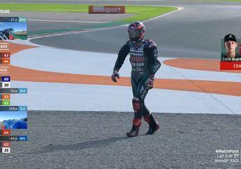 Live Report MotoGP Valencia 2020, Fabio Quartararo Crash, Sayonara Juara MotoGP 2020?
