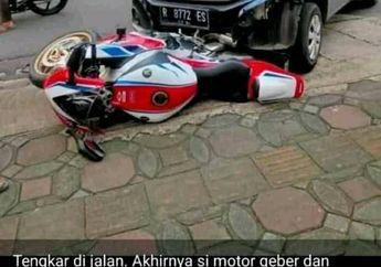 Viral Tragedi Honda CBR1000RR Vs Ayla Suara Knalpot Jadi Alasan,  Apa Sebab Pengendara Moge Suka Geber Gas?