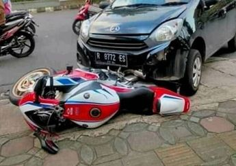 Viral Honda CBR1000RR SP Ditabrak Ayla Berakhir Damai, Tawaran Ganti Rugi Rumah dan Mobil Ditolak