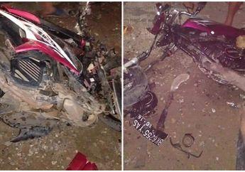 Ngeri! Kecelakaan Maut Yamaha Xeon Lawan Yamaha RX-King, Kondisi Motor Rusak Parah Tewaskan Tiga Pemotor