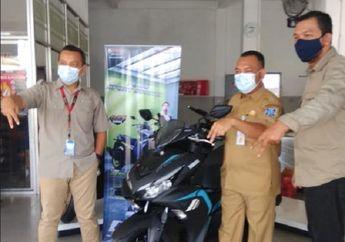 Wuih, Yamaha Serahkan All New Aerox 155 Connected Kepada Konsumen Pertama di Bangka Belitung