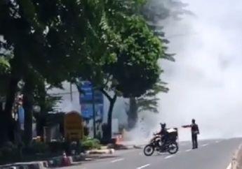 Pemotor Langsung Putar Balik, Video Kebakaran di SPBU MT Haryono Pancoran, Diduga Berasal dari Mobil Tangki