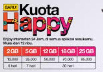 Murah Meriah Paket Kuota Data Hingga 25 GB Harga Mulai Rp 12 Ribu Buruan Serbu