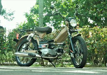 Modifikasi Motor Moped Retro Ala Honda CT125, Bertabur Part RCB