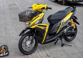 Modifikasi Motor Yamaha Mio M3 Jadi Apik, Bertaburan Part Ciamik