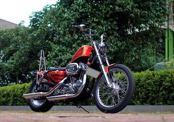 Modifikasi Harley-Davidson Sportster Jadi Chopper Ala Puspa Kediri Custom