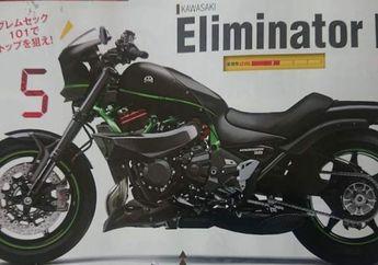 Bocor Penampakan Motor Cruiser Kawasaki Eliminator Bermesin Ninja H2