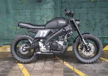 Modifikasi Motor Yamaha XSR 155 Bergaya Scrambler Punya Irfan Bachdim
