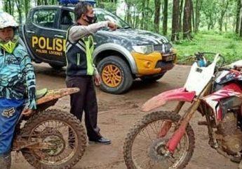 Satgas Covid-19 Bubarkan Pemotor Trail di Bumi Perkemahan di Nganjuk