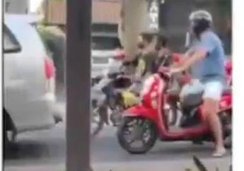 Viral video Bule Bikin Ngebul Jalanan, Warganet: Kasihan Tukang Rental
