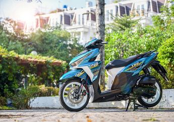 Modifikasi Honda Vario 150 Jadi Sporty, Decal Stiker Unik, Plus Aksesoris Apik
