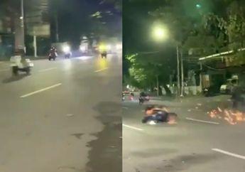 Video Vespa Kebut-kebutan Akhirnya Cium Aspal, Netizen: Kenceng Itu Pilihan