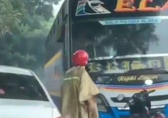 Viral Pemotor Hadang dan Rusak Kaca Bus, Ternyata Gara-gara Ini