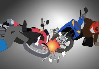 Akibat Sembrono, Honda Beat Ditabrak Honda CB150 Hancur Berantakan