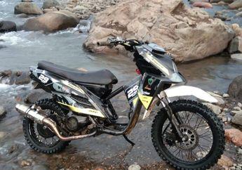 Modifikasi Motor Yamaha X-Ride 2014, Hadiah Ultah dari Istri Tercinta