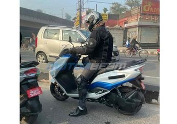 Kepergok, Suzuki Burgman Electric Tes Jalan, Jegal Honda PCX Electric?