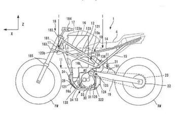 Gambar Paten Motor Listrik Garapan Honda Bocor, Pakai Basis CB125R?