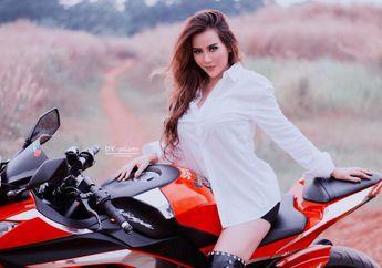 Potret Penyanyi Dangdut Nita Thalia di Atas Motor, Bikin Gemetar